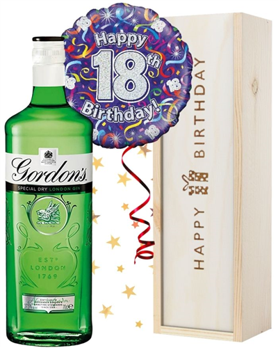 18th Birthday Gin and Balloon Gift