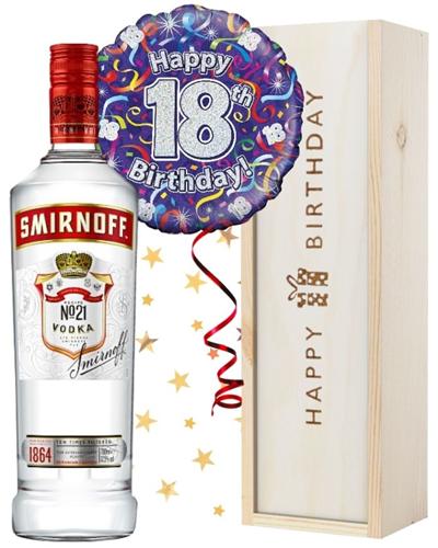 18th Birthday Vodka and Balloon Gift