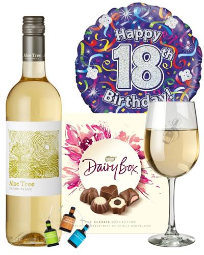 18th Birthday White Wine And Chocolates