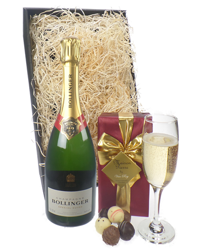 Bollinger Champagne & Belgian Chocolates Gift Box