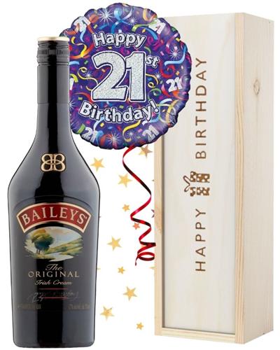 21st Birthday Baileys and Balloon Gift