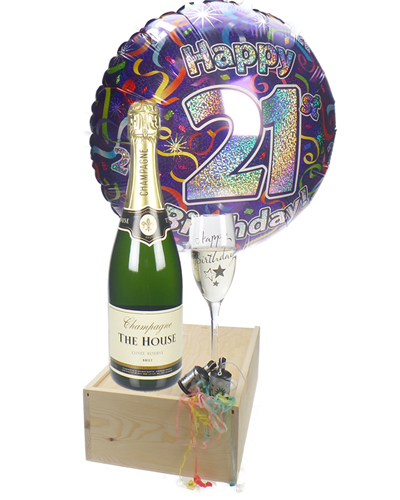 21st Birthday Champagne Flute Gift