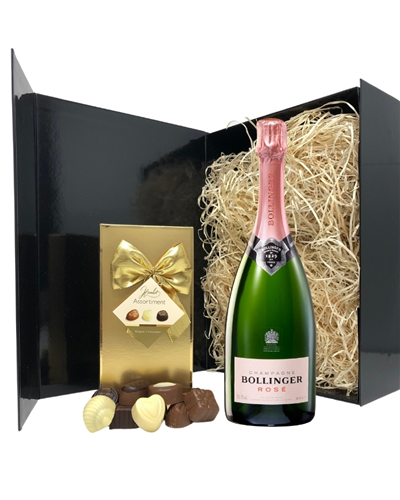 Bollinger Rose Champagne & Belgian Chocolates Gift Box