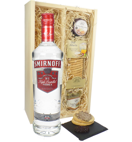 Smirnoff Vodka and Pate