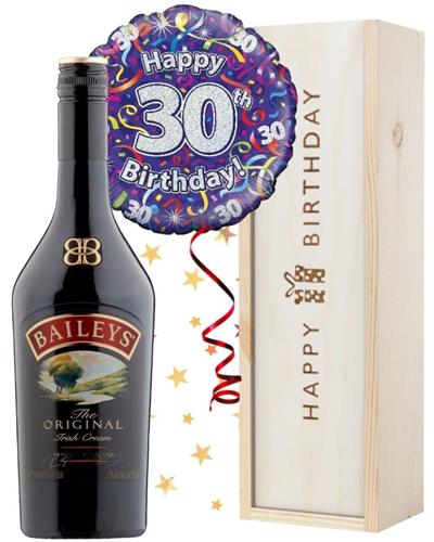 30th Birthday Baileys and Balloon Gift