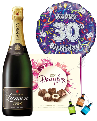 30th Birthday Champagne And Chocolates Gift