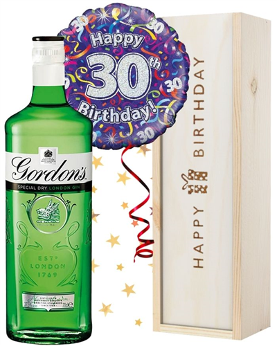 30th Birthday Gin and Balloon Gift