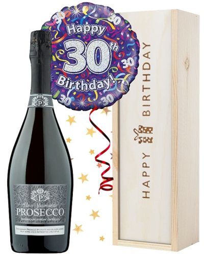 30th Birthday Prosecco and Balloon Gift
