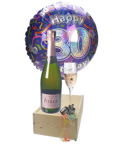 30TH BIRTHDAY ROSE CHAMPAGNE FLUTE GIFT