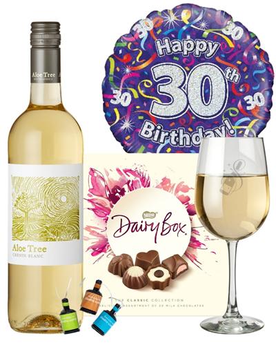 30th Birthday White Wine And Chocolates