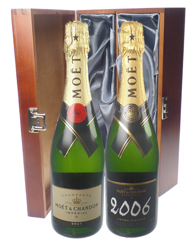 Moet NV and Vintage Twin Luxury Gift