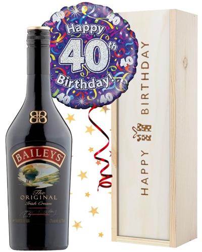 40th Birthday Baileys and Balloon Gift