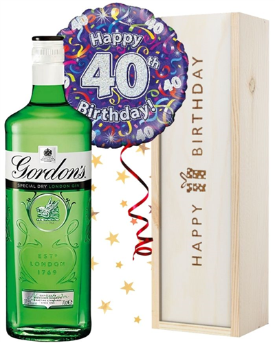 40th Birthday Gin and Balloon Gift