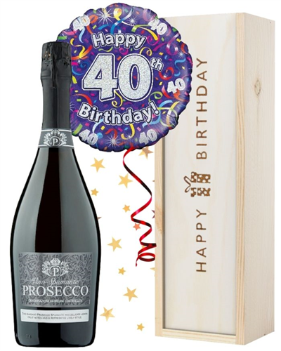 40th Birthday Prosecco and Balloon Gift