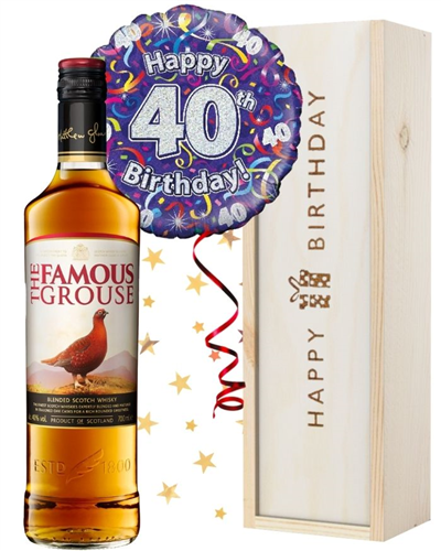 40th Birthday Scotch Whisky and Balloon Gift