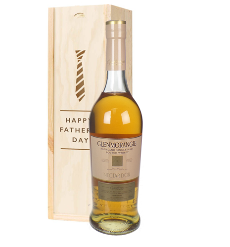 Glenmorangie Nectar Dor Malt Whisky Fathers Day Gift In Wooden Box