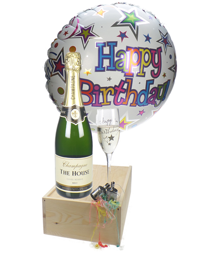 Birthday Champagne Flute Gift