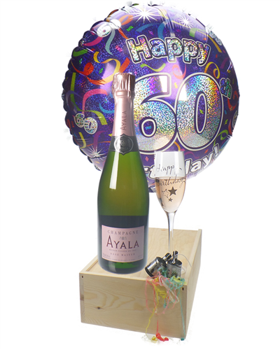 60TH BIRTHDAY ROSE CHAMPAGNE FLUTE GIFT