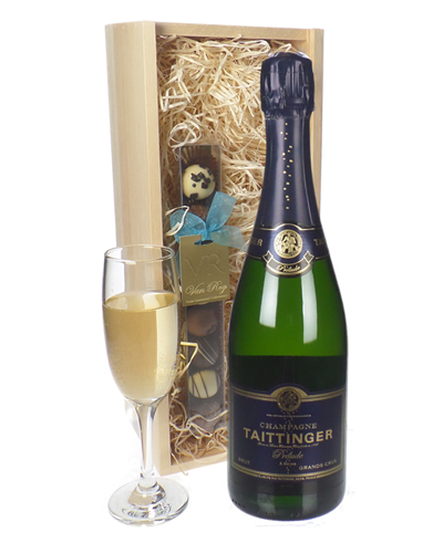 Taittinger Prelude Champagne and Chocolates Gift Set