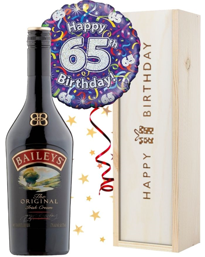 65th Birthday Baileys and Balloon Gift