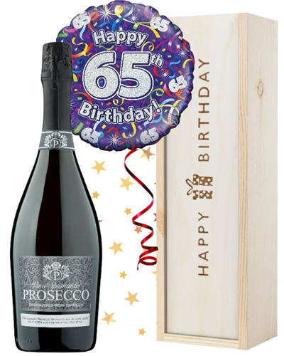 65th Birthday Prosecco and Balloon Gift