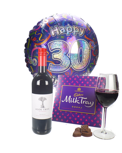 Red Wine And Chocolates 30th Birthday Gift