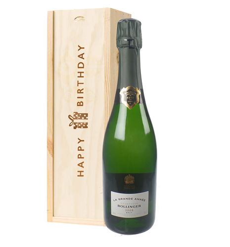 Bollinger Grande Annee Vintage Birthday Gift In Wooden Box