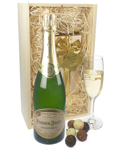 Perrier Jouet Champagne & Belgian Chocolates Gift Box