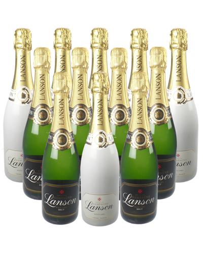 Lanson Black Label And White Label Champagne Case