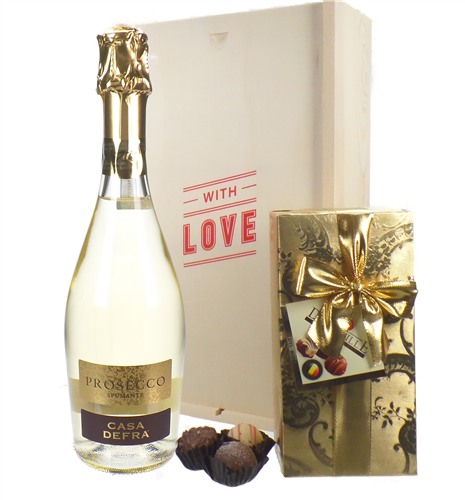 Prosecco & Chocolates Spumante Valentines Gift