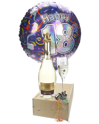 18th Birthday Prosecco And Flute Gift