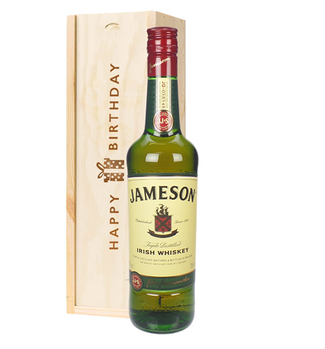 Jameson Irish Whiskey Birthday Gift In Wooden Box