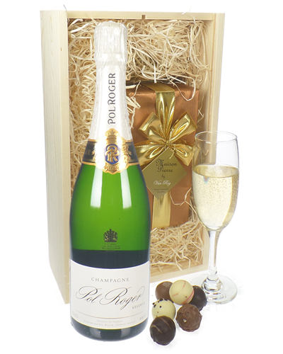 Pol Roger Champagne & Belgian Chocolates Gift Box