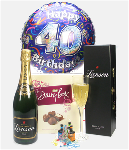 40th Birthday Champagne And Chocolates Gift