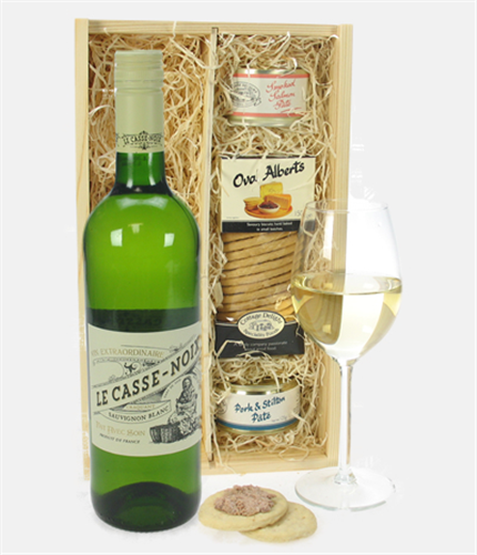 French Sauvignon Blanc Wine & Gourmet Food Gift Box