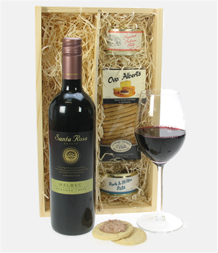 Malbec wine gourmet food gift box next day delivery for Next day wine gifts