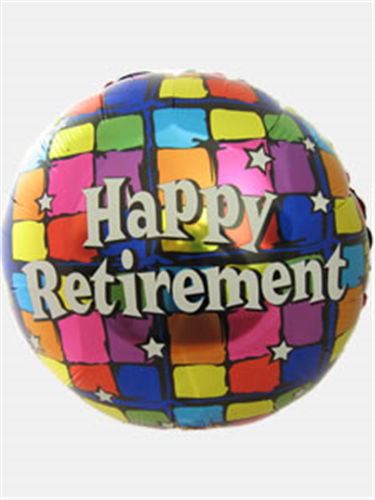 Happy Retirement Helium Balloon Gift Next Day Delivery