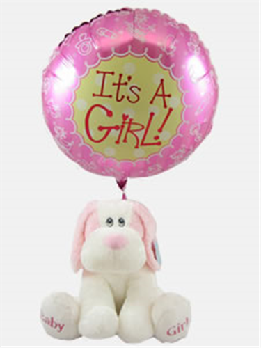 Baby Girl Gift With Balloon