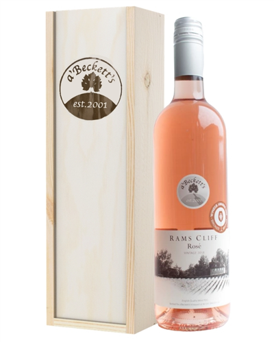 A Becketts English Rams Cliff Rose Wine Gift