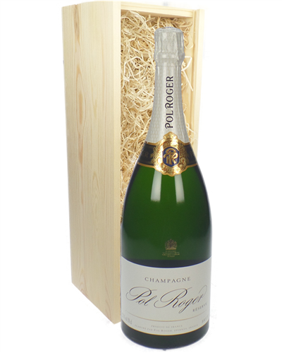 Pol Roger Champagne Magnum 150cl in Wooden Gift Box