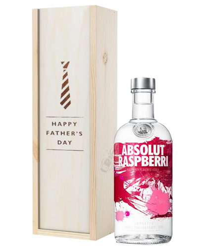 Absolut Raspberry Vodka Fathers Day Gift In Wooden Box