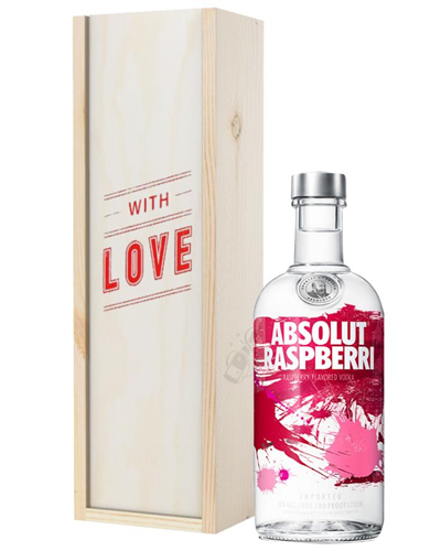 Absolut Raspberry Vodka Valentines Day Gift