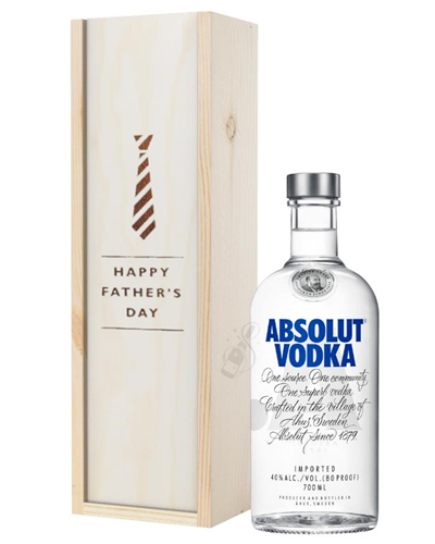 Absolut Vodka Fathers Day Gift In Wooden Box
