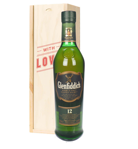Glenfiddich 12 Year Old Single Malt Whisky Valentines Day Gift