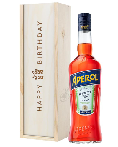 Aperol Spritz Birthday Gift In Wooden Box