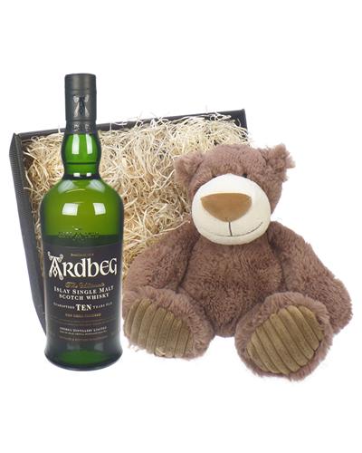Ardbeg 10 and Teddy Bear Gift Basket