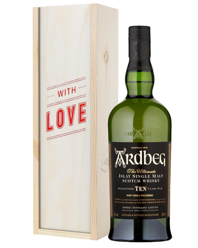 Ardbeg 10 Year Old Single Malt Whisky Valentines Day Gift