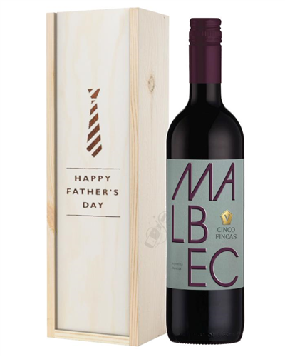Argentinian Malbec Red Wine Fathers Day Gift In Wooden Box