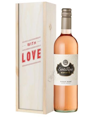 Argentinian Rose Wine Valentines With Love Special Gift Box