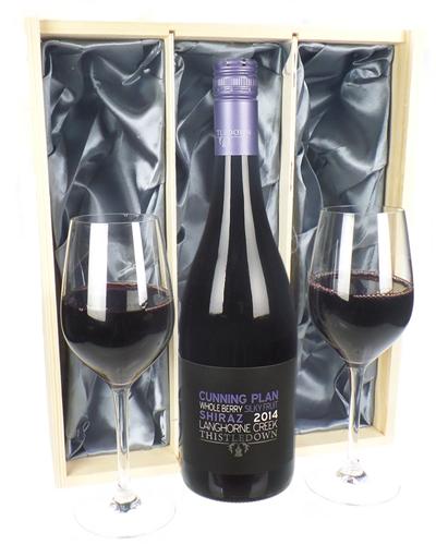 Australian Shiraz Red Wine And Glasses